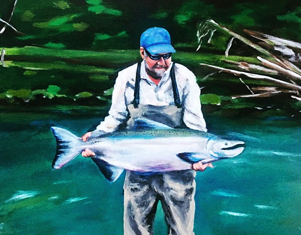 custom portraits, fishing, paintings