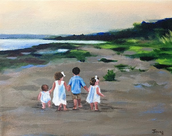 family. portraits, children.coastal, beach