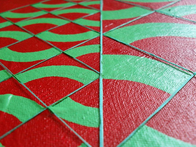 James Sewell painting Split (Red and Green)