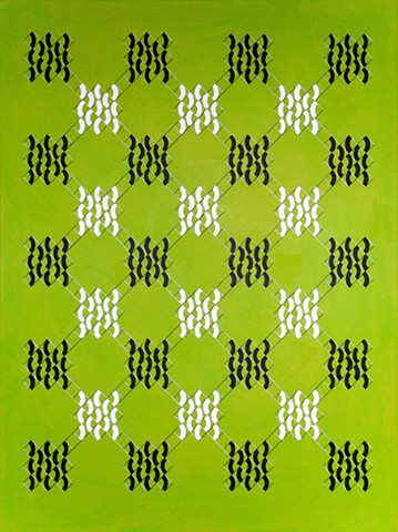 James Sewell painting Lattice (Lime)