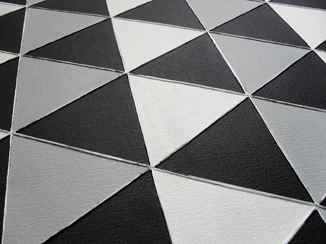 James Sewell Painting geometric pattern grid