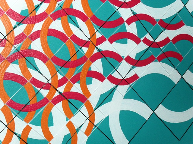 James Sewell painting Wave (Turquoise 2)