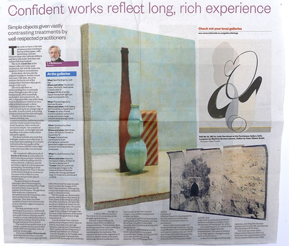 'Confident Works Reflect Long, Rich Experience'   TJ McNamara - New Zealand Herald - Arts -  Review of 'Phantasmagoria' - Artis Gallery -  27/08/2011 ______________________________