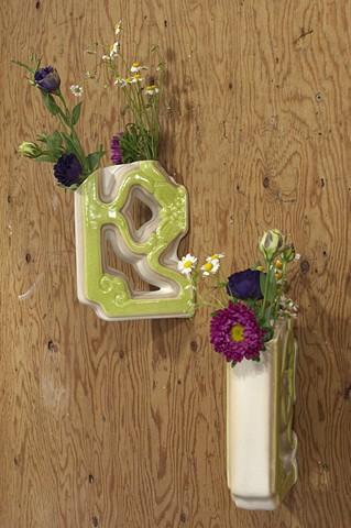 Wall Vase Pair