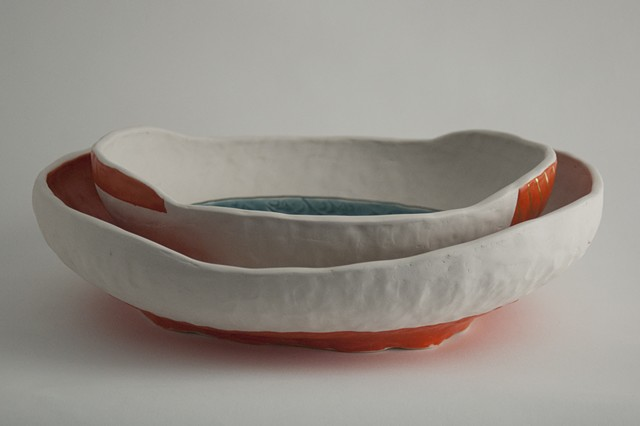 Nesting Oval Bowl, Pinched