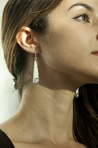 Porcelain Earrings, Platinum