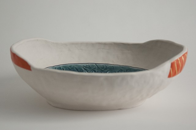 Small Oval Bowl, Pinched