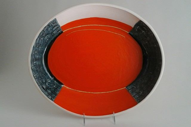 Large Thrown Tray, alt. view