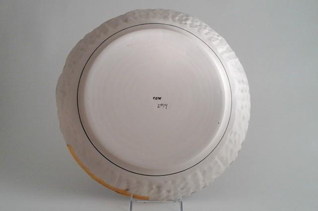 Large Round Tray, back