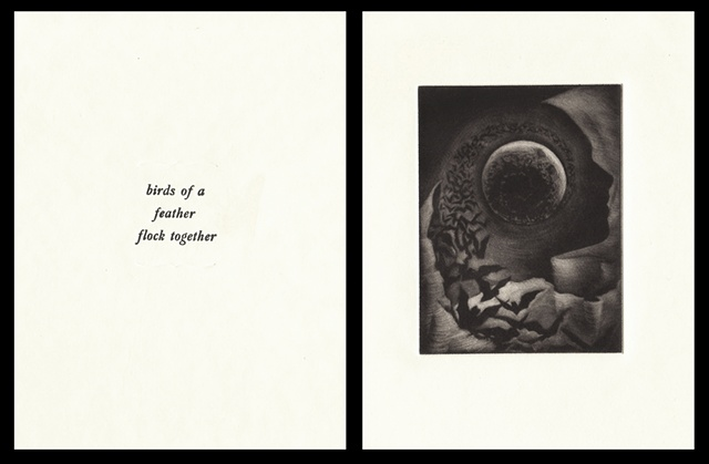 "plate five:  ""birds of a feather flock together""  2006"