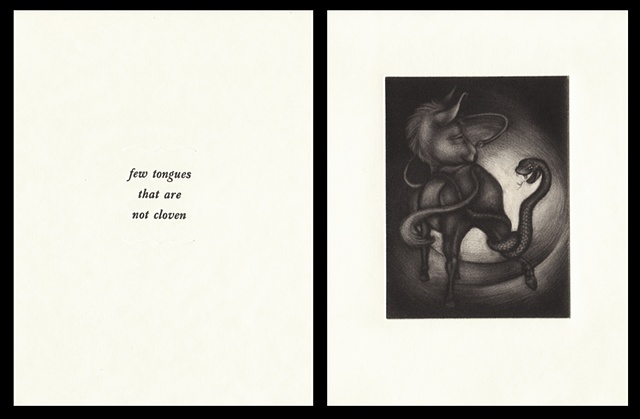 "plate fifteen:  ""few tongues that are not cloven""  2006"