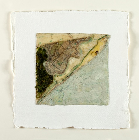 beeswax, map, pigment, seaweed