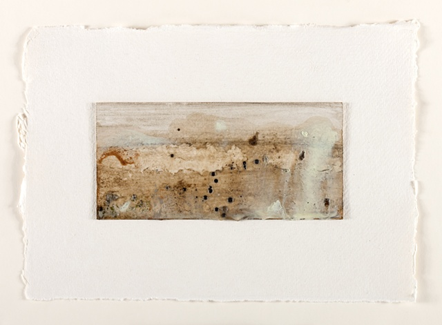 Rust, mud, wax and pigment