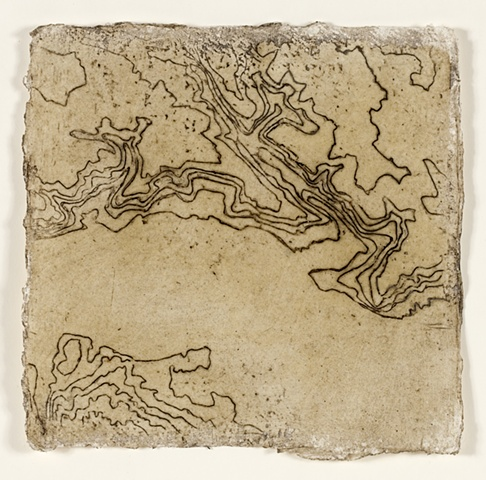 Topographical detail of the Stour in beeswax and mud