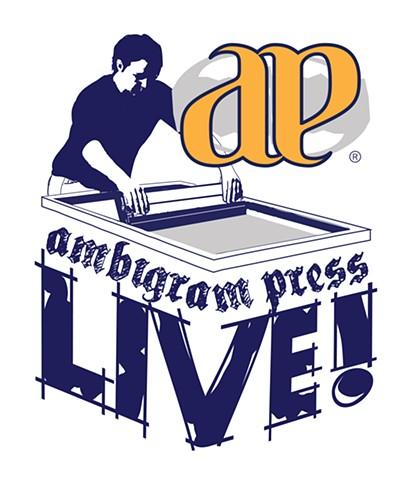 Ambigram Press Live! Logo Design