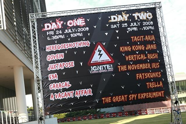 IGNITE! 2009 Band List Banner