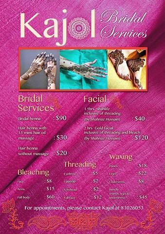 Poster/Flyer for Kajol Bridal Services