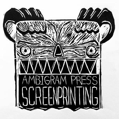 Squeelgee - Ambigram Press Screenprinting