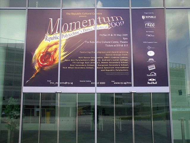 Momentum Dance Festival 2009 Large Window Sticker Design