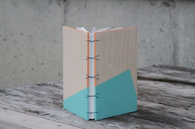 large notebook - robin's egg + apricot
