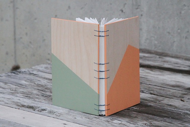 large notebook - apricot + sage