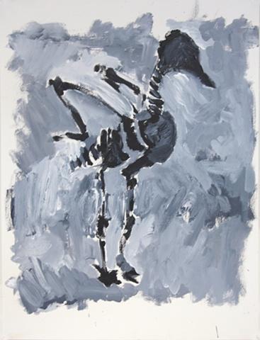 Grey Bird Skeleton