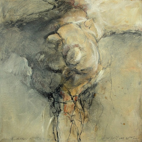 Birthing    charcoal and oil on panel