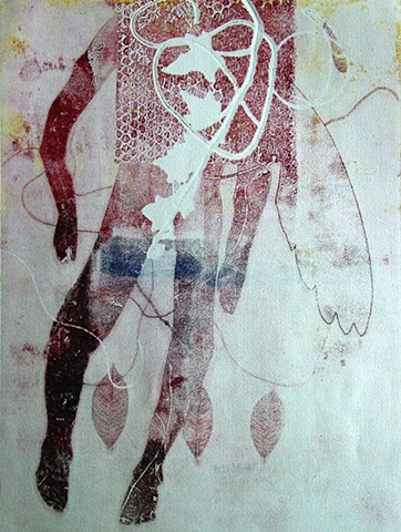 I AM the Vine II collograph
