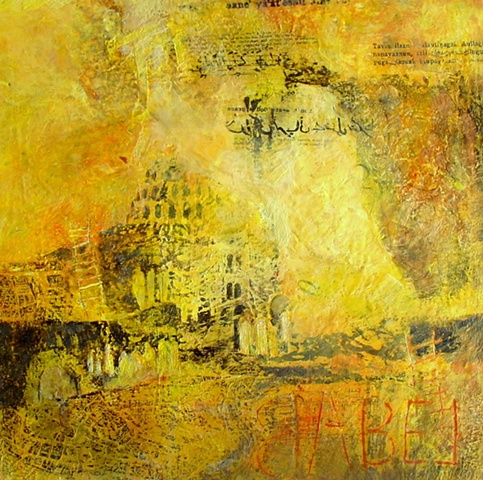 Babel Grace encaustic on panel
