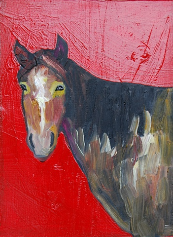 Tiny Horse in Red