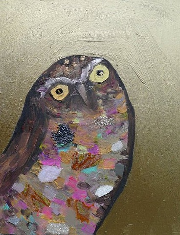 Tiny Burrowing Owl in Metallic Bronze