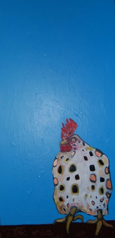 Chicken in Blue