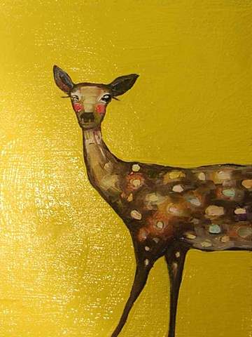 Spotted Deer in Glossy Yellow