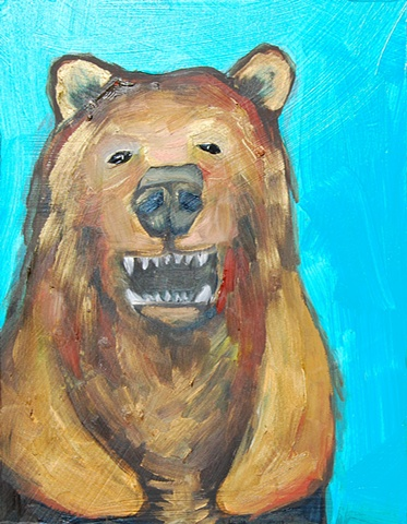 Tiny Grizzly in Turquoise