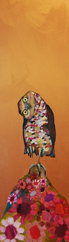 Burrowing Owl in Copper 