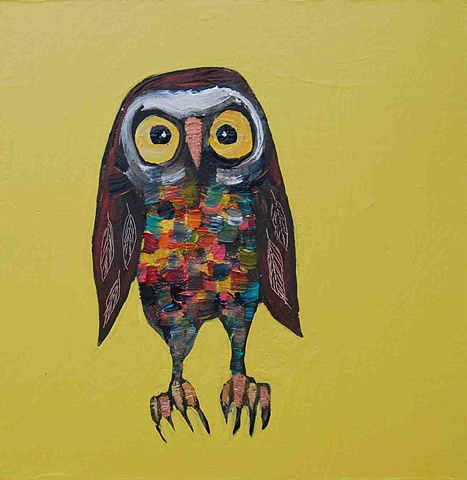 Tiny Owl in Yellow
