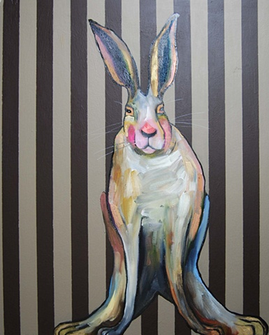 Rabbit in Brown Stripes