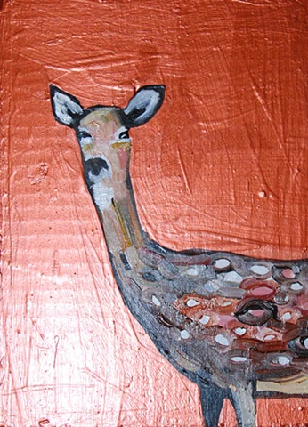 Spotted Deer in Copper