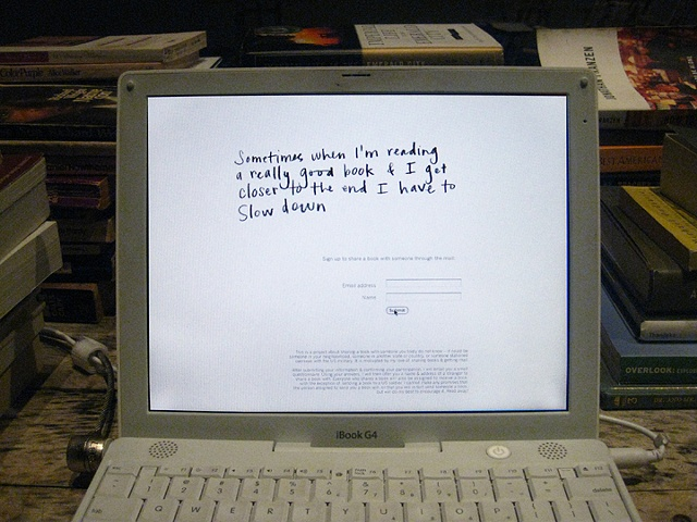 When I am reading I am far away   (detail of computer screen)