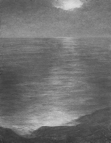 katherine meyer drawing charcoal Alameda california beach san francisco bay