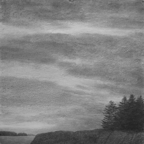 Katherine Meyer drawing charcoal Norton Island Artists' Colony downeast Maine