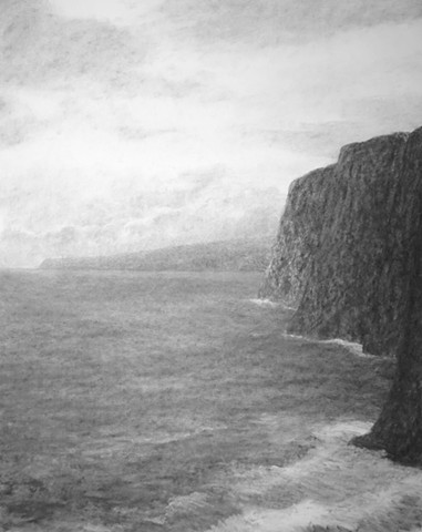 Hawaii big island katherine meyer artist charcoal drawing