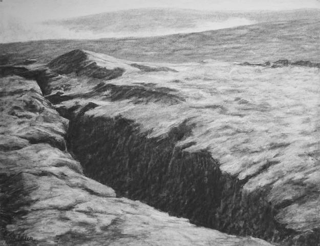 Hawaii Big Island katherine Meyer artist charcoal drawing