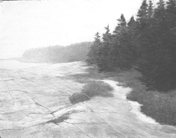 Katherine Meyer drawing charcoal Norton Island Artists' Colony downeast Maine Eastern Frontier Society