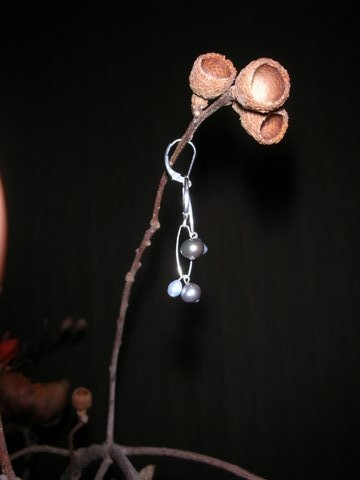pewter &amp; light blue pearls