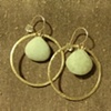 aquamarine gold hoops