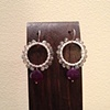 purple chalcedony &amp; labradorite hoops