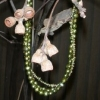 green pearl three strand