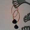 black spinel &amp; gold drops