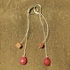 ruby &amp; aventurine 2 danglies